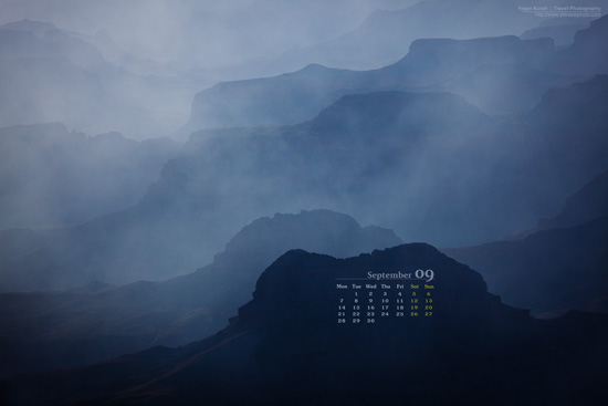 Desktop Wallpaper Calendar: September 2009