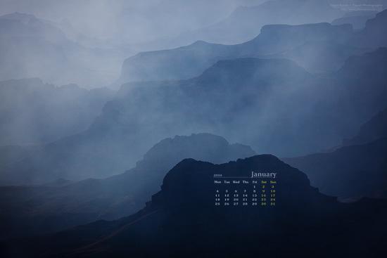 Grand Canyon Calendar January 2010