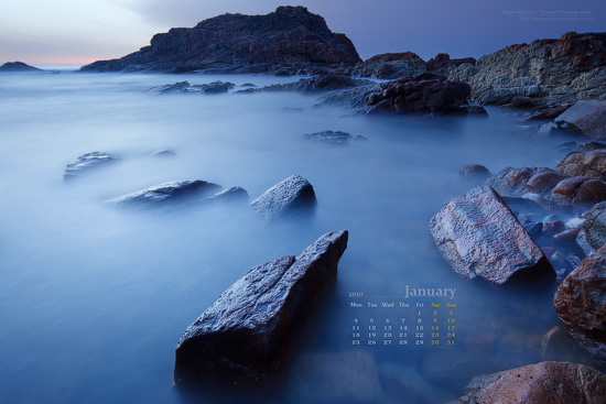 wallpapers for january. The main calendar for January 2010 features beautiful rocks at Mimosa Rocks