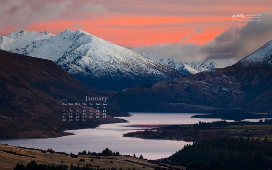 New Zealand News Wallpaper: Free Desktop Wallpaper Calendar: January 2013