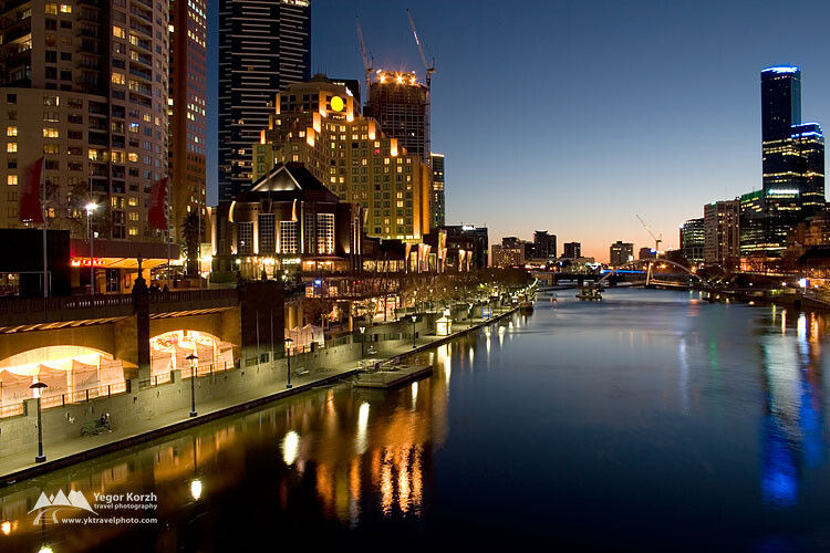 Southbank in Melbourne, VIC, Australia