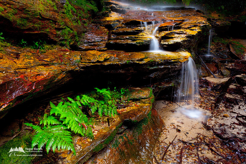 Burgess Falls, Blue Mountains NP, Hazelbrook, NSW, Australia