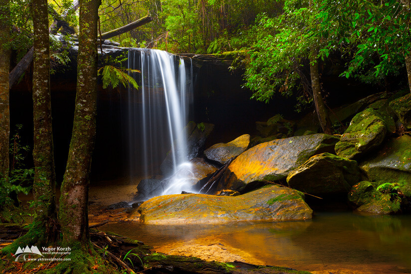 Oaklands Falls, Blue Mountains NP, Hazelbrook, NSW, Australia