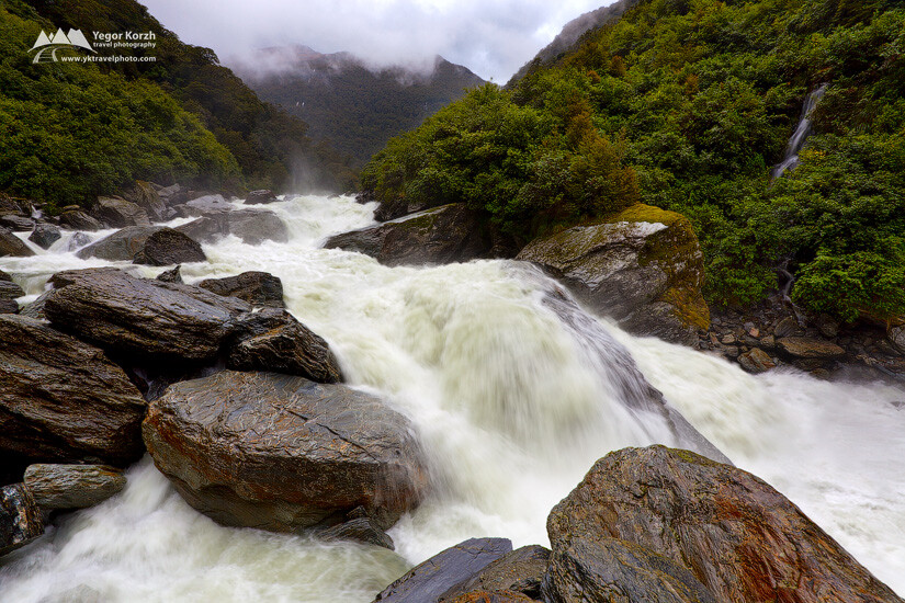 Haast River, South Island, New Zealand