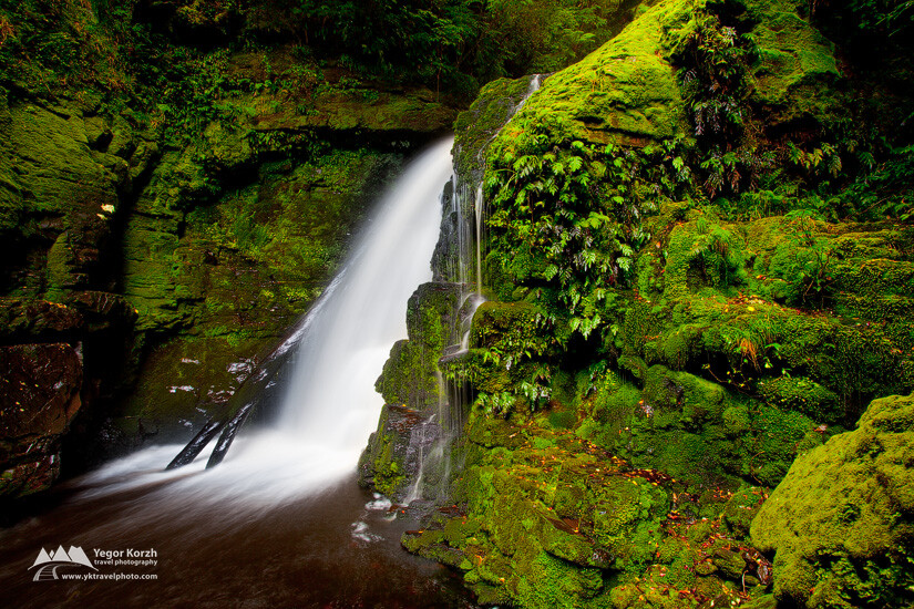 Lower McLean Falls, Catlins, South Island, New Zealand