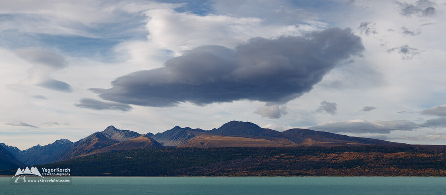 Mountain Ranges near Lake Pukaki, South Island, New Zealand