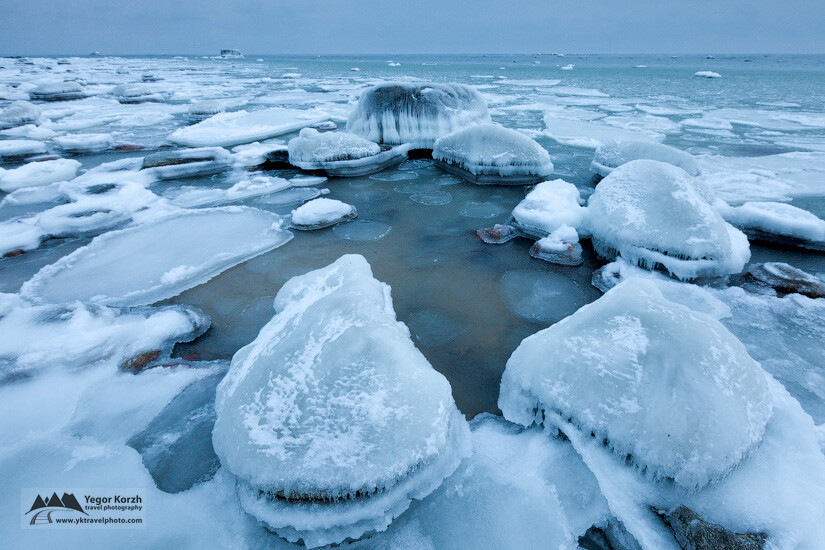 Frozen Rocks of Gulf of Finland, Vimsi, Estonia