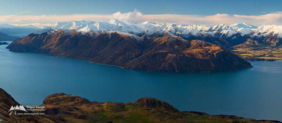 Mountain Ranges near Lake Wanaka, South Island, New Zealand
