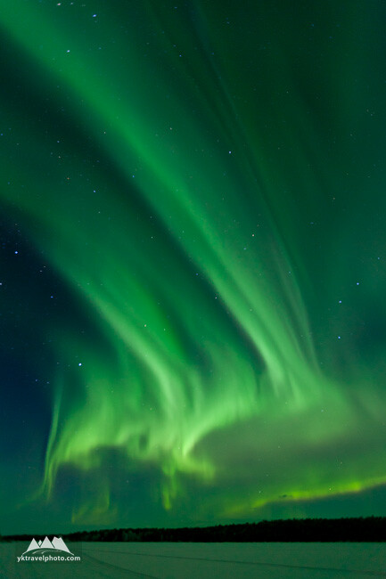 Northern Lights (Aurora Borealis), Lake Inari, Nellim, Lapland, Finland