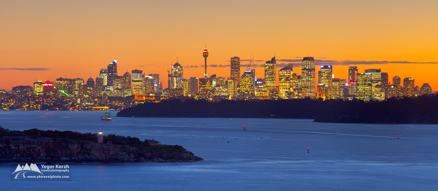 Sydney CBD (from North Head), NSW, Australia