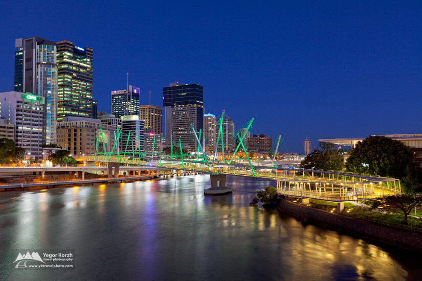 Kurilpa Bridge, Brisbane City, QLD, Australia