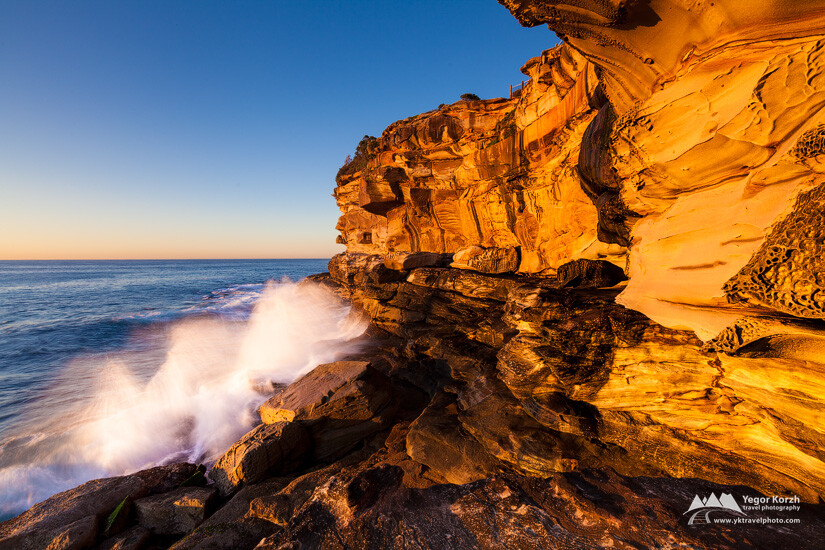 Bronte Beach Cliffs, Sydney, NSW, Australia