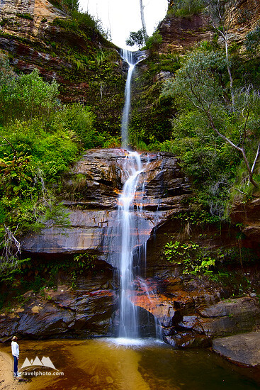 Minni Ha Ha (Minnehaha) Falls, Katoomba, Blue Mountains, NSW, Australia