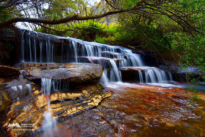 Cascades on Yosemite Creek, Blue Mountains, NSW, Australia