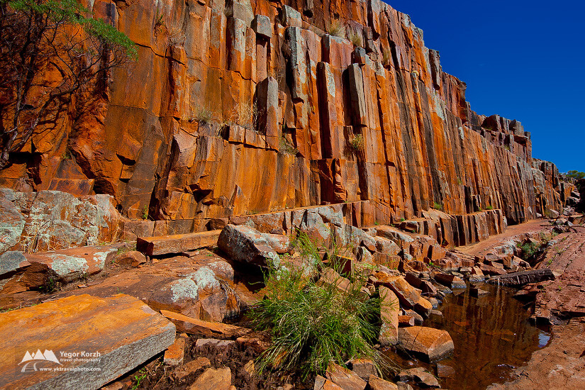 Organ Pipes at Kolay Mirica Falls, Gawler Ranges NP, SA, Australia