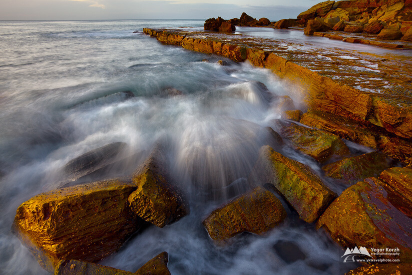Rock Platform at Forresters Beach, NSW, Australia
