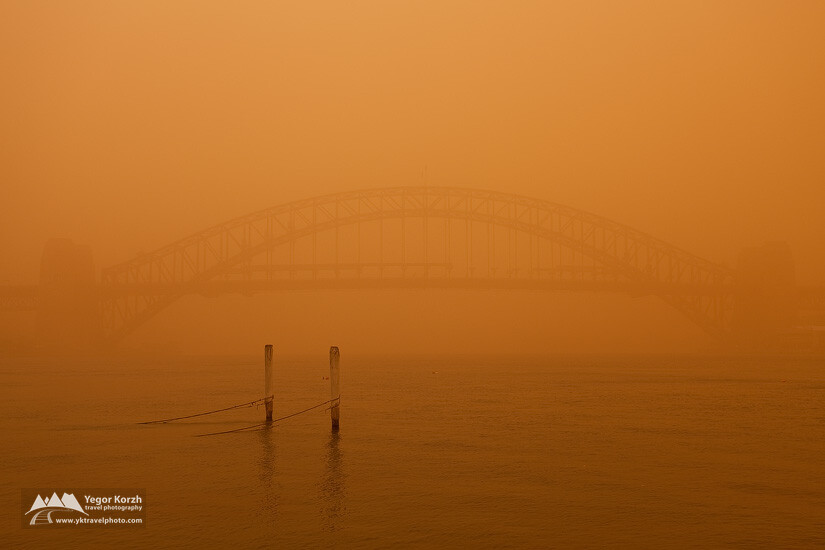 Sydney Harbour Bridge under Dust Blanket, Sydney, Australia