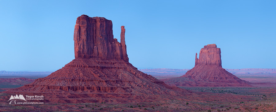 West and East Mittens, Monument Valley, Arizona, USA