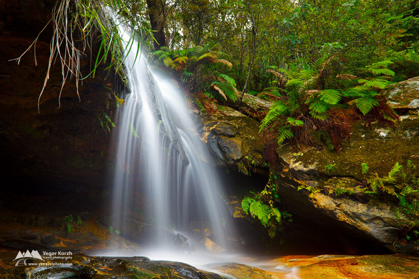 Lyrebird Falls, Blue Mountains NP, Hazelbrook, NSW, Australia