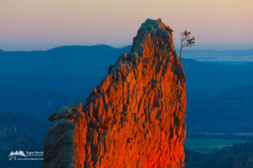 The Breadknife, Warrumbungle National Park, NSW, Australia
