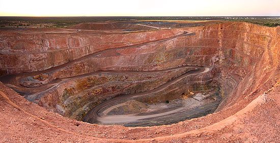 New Cobar Open Cut Panorama