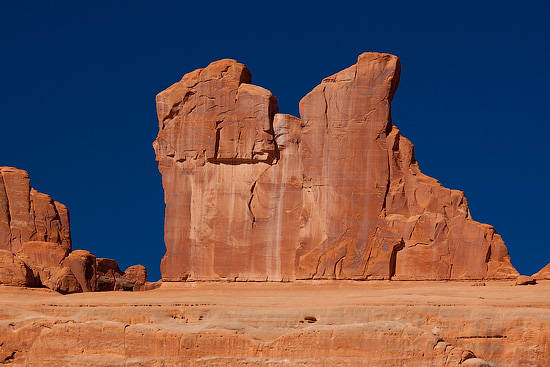 Rocky formations at Arches National Park, Utah, USA