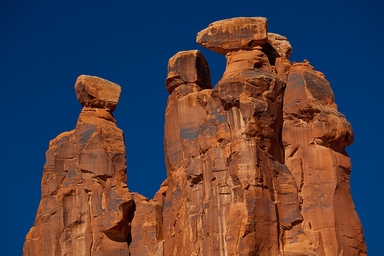 Three Gossips, Arches National Park, Utah, USA