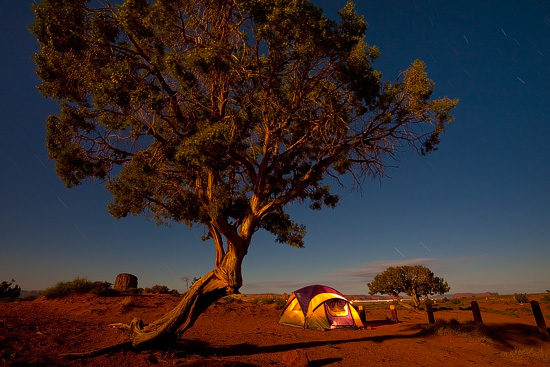 Monument Valley Camping, Arizona, USA