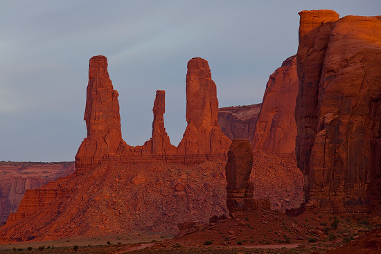 Three Sisters, Monument Valley, Arizona, USA
